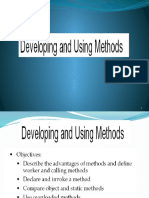 Developing and Using Methods