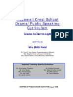 Drama Public Speaking Curriculum