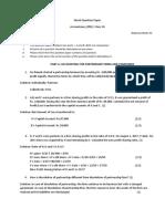 Mock Question Paper
