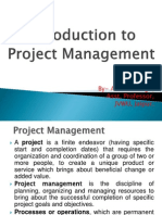 Project Management Intro