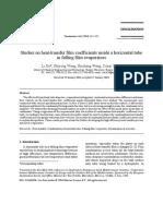 Studies on Heat Transfer Coefficients FFE