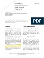 What determines the forward exchange rate of the euro.pdf