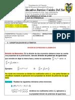 GUIA VIRTUAL 1 CUARTO PERIODO GRADO-OCTAVO MATEMA´TICAS