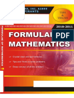 Formulae book of Mathematics