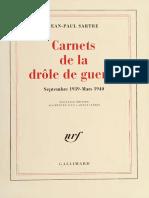 Carnets de la drole de guerre _ - Sartre, Jean Paul, 1905-1980.pdf