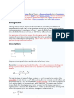 Fluid mechanics and Darcy's law