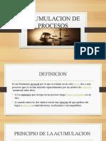 ACUMULACION DE PROCESOS