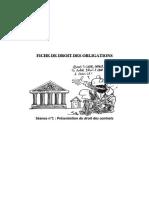 FICHE DE DROIT DES OBLIGATIONS (séance 1)