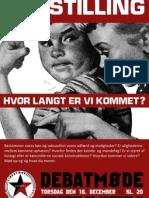 Plakat for møde om ligestilling - LS-Aalborg