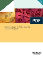 Détermination de l'hématocrite par centrifugation (Haematokrit 200)