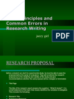 Errors in Research Writing