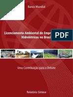 WORLD BANK  Licenciamento Ambiental de Empreendimentos Hidreletricos no Brasil.pdf