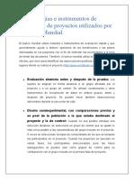 Metodos de evaluacion Banco Mundial