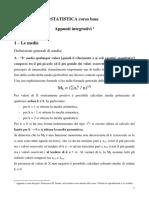 Statistica corso base - integrazione medie