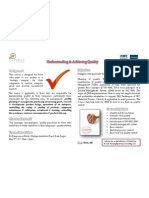 Understanding & Achieving Quality