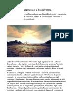 Cambiamento climatico e biodiversità.docx