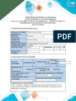Guía de actividades y rúbrica de evaluación - Unidad 3, Tarea 4. Recopilación y presentación de protocolos
