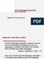 SLA-G Week5 Lesson1 Role of the L1
