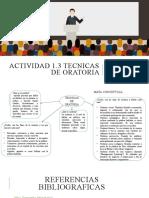 1.3 TECNICAS DE ORATORIA