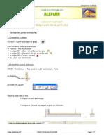 ALLPLAN CONCEVOIR UN BATIMENT GUIDE D AUTONOMIE N 5. 1.1 Paramétrer le calque. FICHIER Ouvrir sur la base du projet