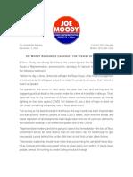 Rep. Joe Moody's Speaker Announcement