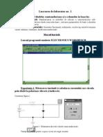 Lucrarea de laborator nr1 Dispozitive Electronice