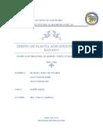 DISEÑO DE PLANTA AGROINSDUSTRIAL DE BANANO