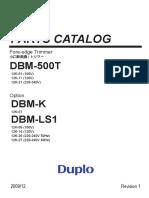 Duplo DBM 500T parts catalog