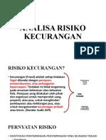 ANALISA RISIKO KECURANGAN