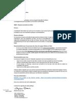 Lettre d'information Coronavirus