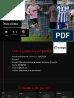 Analisis alaves vs barcelona