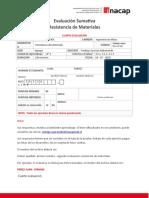 Cuarta evaluación de Resistencia de Materiales SERGIO LUNA TORREZ