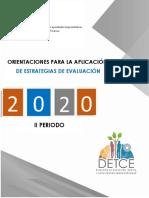c.-Orientaciones para la aplicación de estrategias evaluativa II periodo 05 10 2020
