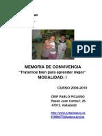 CEIP PABLO PICASSO_PREMIOS BP CONVIVENCIA 2009-2010 1º Mod.I