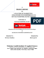 project report on kotak mahindra bank