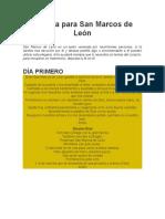 Novena para San Marcos de León