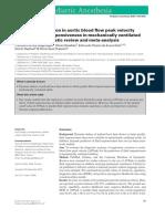 variacion respiratoria en pico flujo aortico