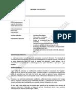 Modelo de informe psisológico (Casm-83 y 85)