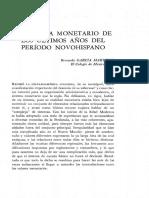 El sistema monetario de los últimos años del período novohispano