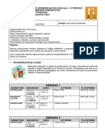 0° DIMENSIÓN COMUNICATIVA - PAC CUARTO PERIODO - NOVIEMBRE  01