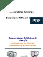 RECUPERADORES DE ENERGIA y 100% aire exterior - 120816