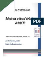 Diaporama DETR Com Finances 28 Octobre