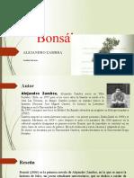 Ppt Bonsái de Alejandro Zambra
