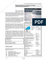 AquaLINE Waterproof Expansion Joint Data Sheet