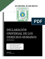INFORME GRUPAL DECLARACIÓN DERECHOS HUMANOS