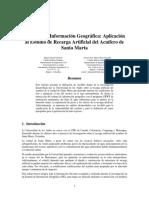 SIG Aplicacion al estudio de recarga Artificial del acuifero de Santa Marta