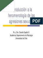 Fenomenología de las Agresiones Sexuales