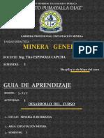 Minería General Sesión 5, 6 y 7
