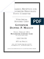 A Fundraising Reception Honoring Governor Dannel Malloy