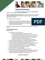 George Coles Bursary